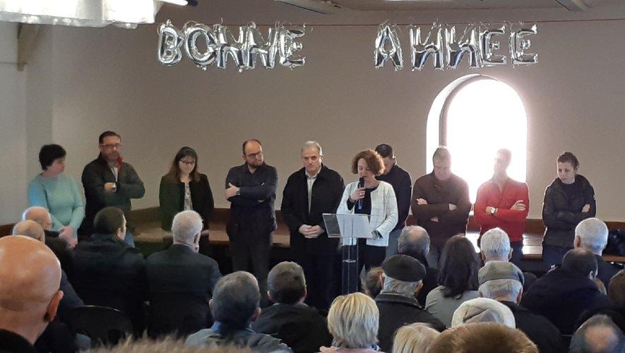 Une équipe municipale au complet pour présenter les vœux.