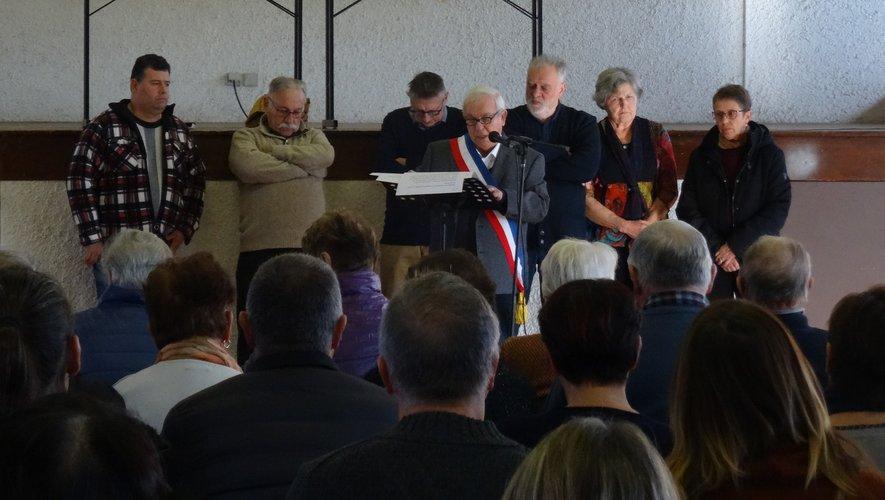 M. G. Affre, maire, présente ses vœux  à la population.