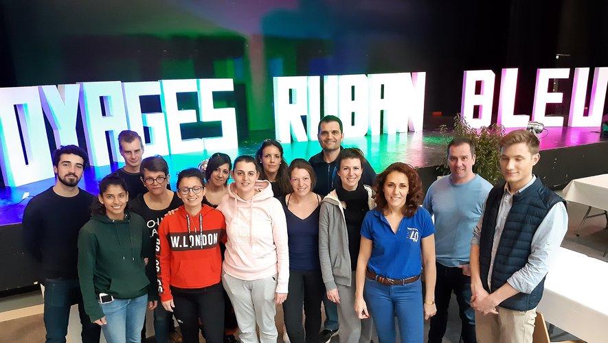 L'équipe de Voyages Ruban Bleu, à quelques heures de l'ouverture du festival.