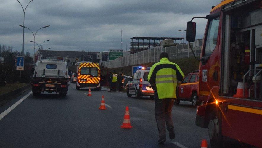 Ce matin peu après 8h20, les deux véhicules se sont percutés sur ce tronçon à 2x2 voies.
