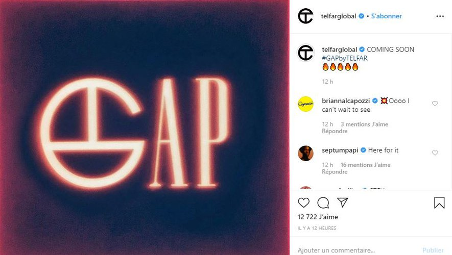 Une collaboration entre Gap et Telfar devrait voir le jour courant 2020.