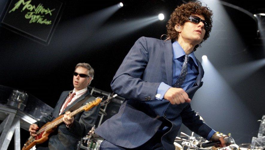 Adam Yauch (G) alias MCA et Mike Diamond alias Mike D du groupe de hip hop américain Beastie Boys à l'Auditorium Stravinski de la 41ème édition du festival Montreux Jazz le 9 juillet 2007