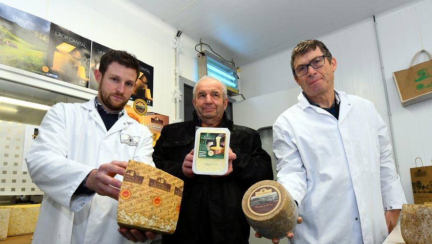 A Thérondels, la coopérative est fière de ses fromages.