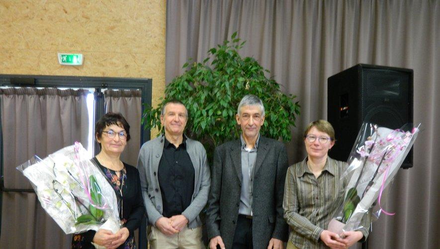 De gauche à droite : Sylviane et Jean-Marie Lacombe, Claude Cazals et Laëtitia Gral.