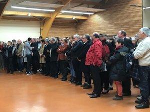 Lors de la cérémonie des vœux du député Arnaud Viala.