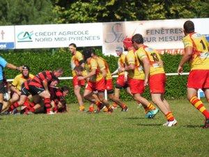 Foot et rugby à domicile contre Saint-Juéry et Rabastens