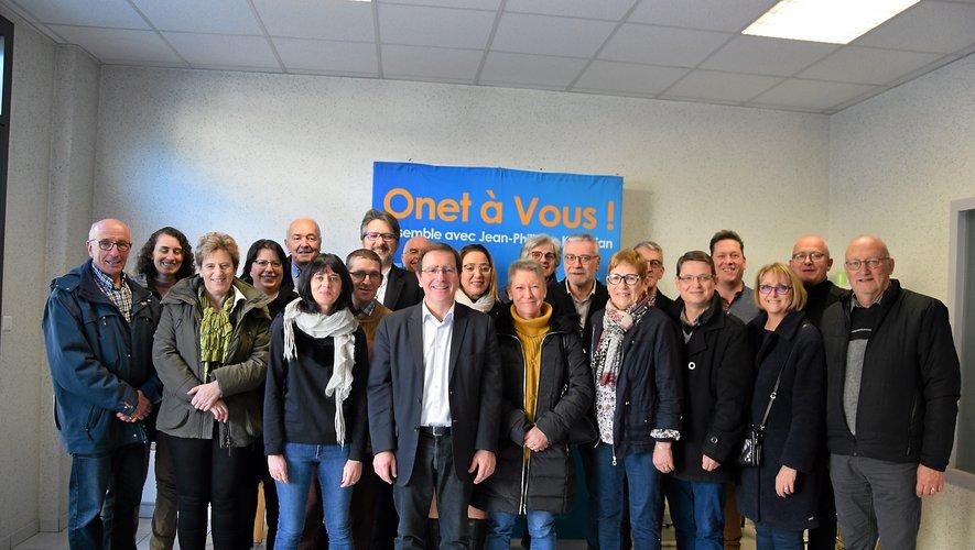 Le maire d'Onet  a présenté sa liste complète