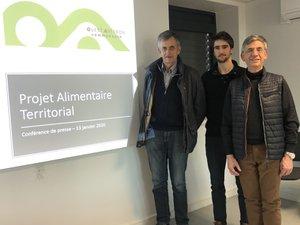 Daniel Carrié, Thomas Béziat et Serge Roques présentent le Pat.