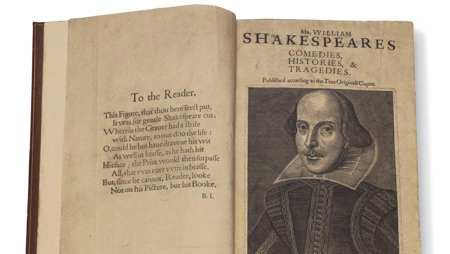 """Une copie d'un """"Premier Folio"""" de Shakespeare pourrait dépasser les 6 millions de dollars lors d'une vente Christie's à New York."""
