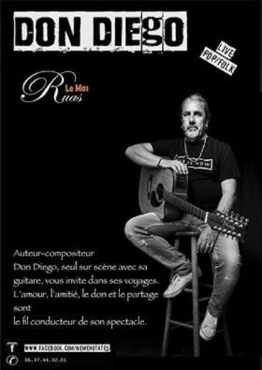 Don Diego vous séduira sans nul doute,  avec sa musique et ses chansons folk.