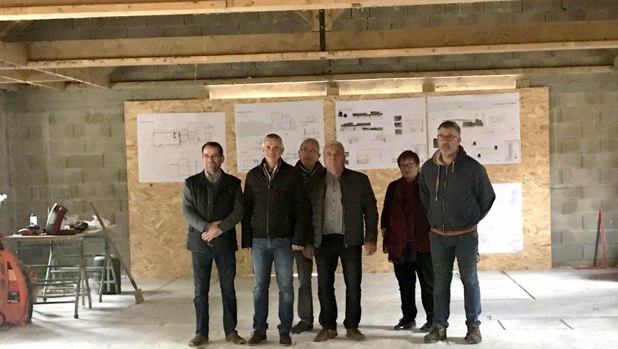 Les élus ont visité le chantier.