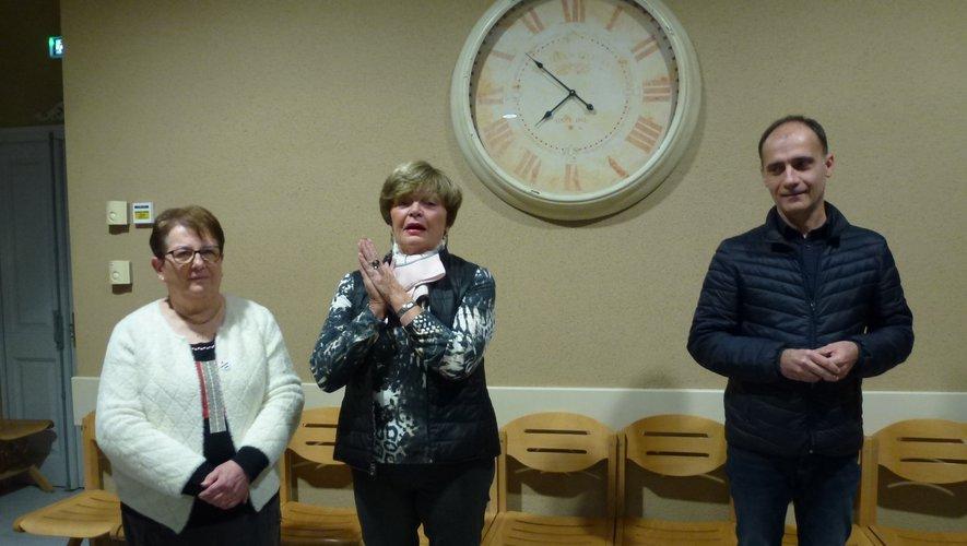 Marie-Thérèse Besombes, Monette Costes et Pascal Galopin présententles vœux de l'association.