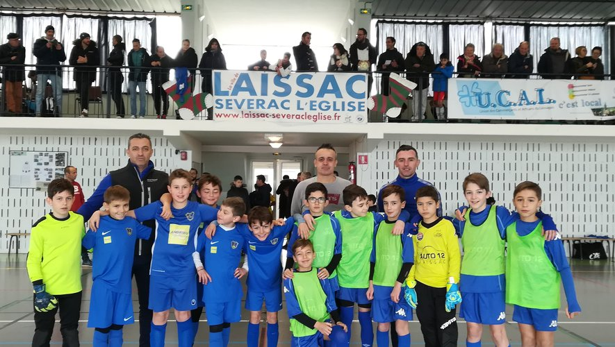 Les U11 ont participé dimanche à un tournoi de futsal au gymnase  de Laissac.