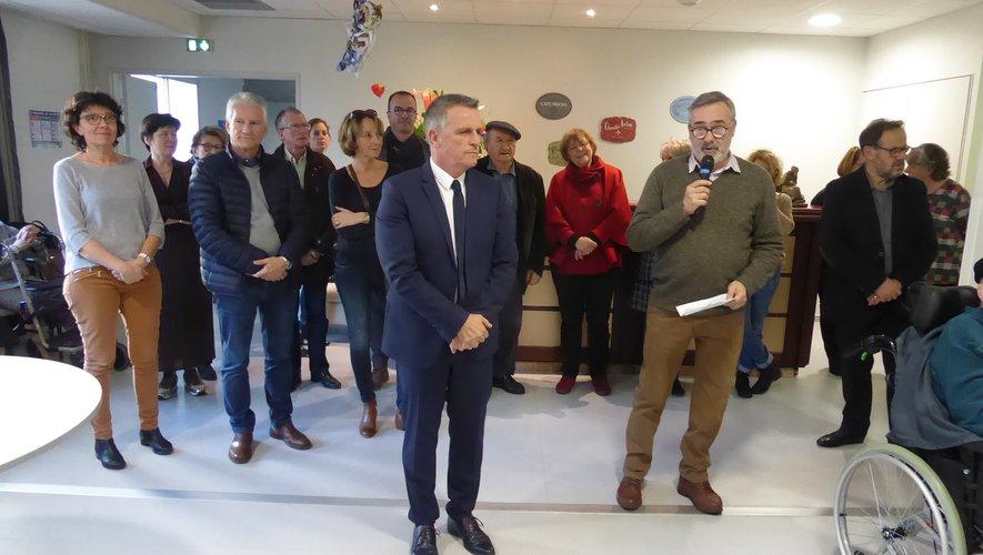 Philippe Pecqueur, le nouveau président du conseil d'administration  lors de son intervention.
