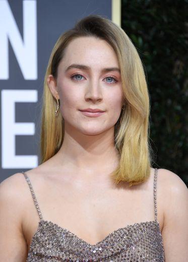 L'actrice irlandaise Saoirse Ronan aux Golden Globes du 5 janvier 2020