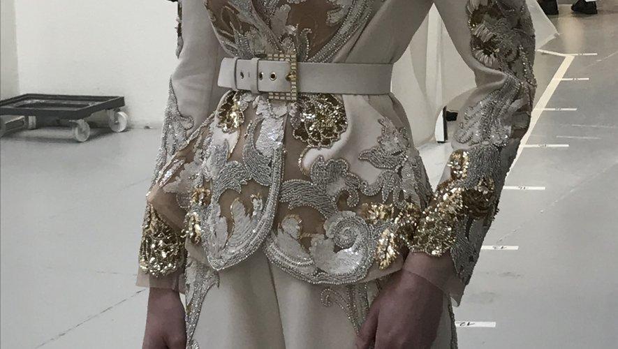 Le défilé Elie Saab printemps-été 2020 pendant la semaine de la haute couture à Paris.