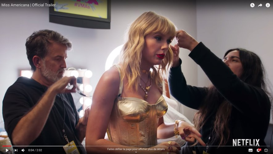 "Taylor Swift dans le documentaire ""Miss Americana""."