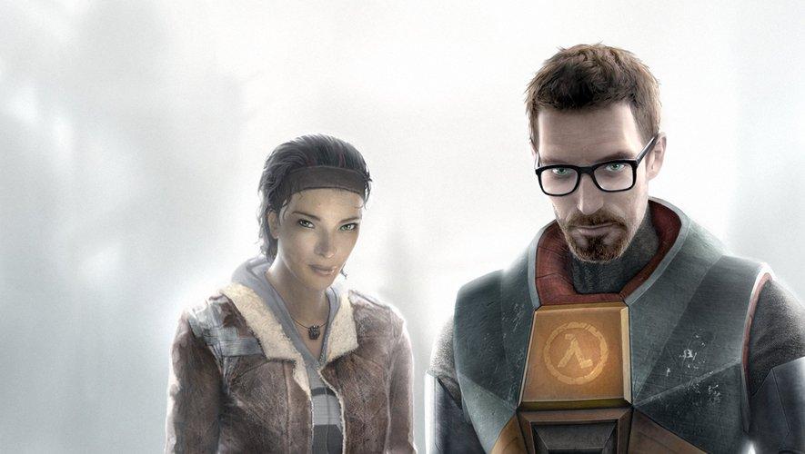 """Les héros d'""""Half-Life"""" Gordon Freeman (D) et Alyx (G)."""