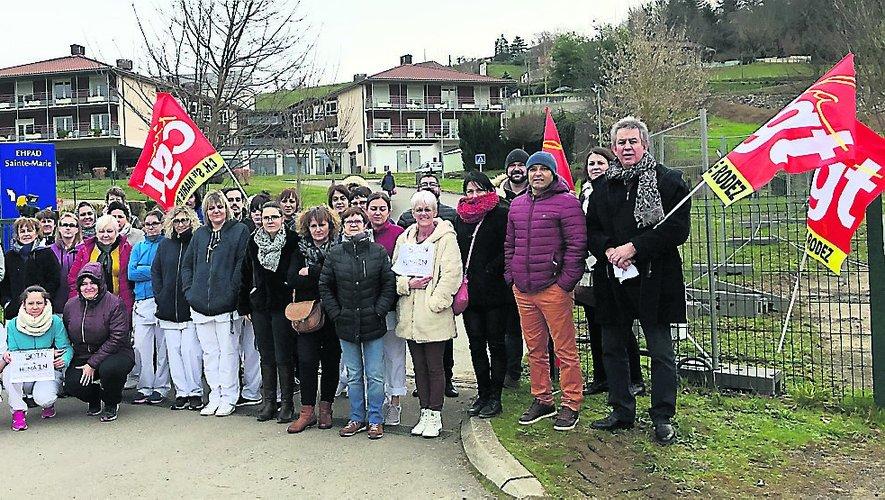 100 % de grévistes, hier, à l'Ehpad Sainte-Marie de Flagnac lors d'un débrayage de deux heures