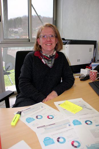 Marie-Paule Solofrizzo, directrice de l'agence Pôle Emploi de Decazeville.