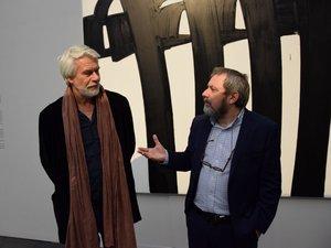 Ce vendredi matin, Chris Dercon au musée Soulages de Rodez, accueilli par le conservateur Benoit Decron.