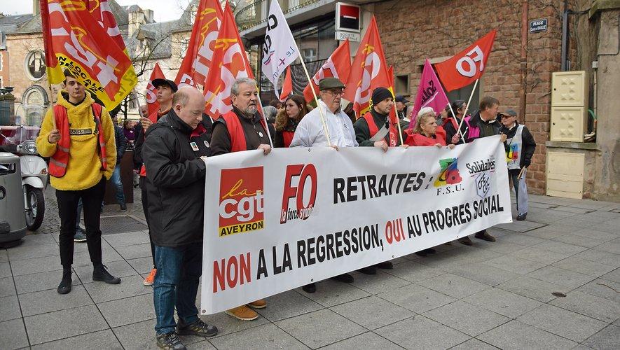 Près de 450 manifestants se sont réunis à Rodez.