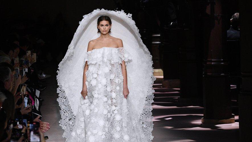 La mariée de Givenchy. Paris, le 21 janvier 2020.