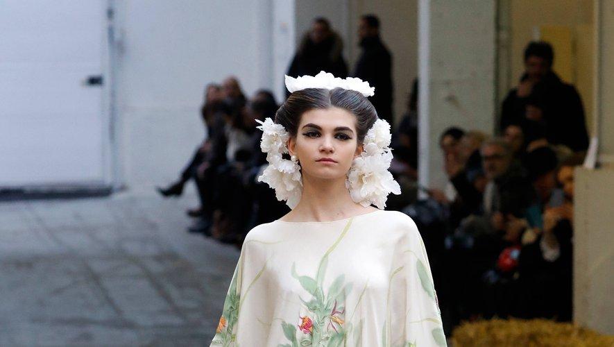 La mariée de Franck Sorbier. Paris, le 22 janvier 2020.