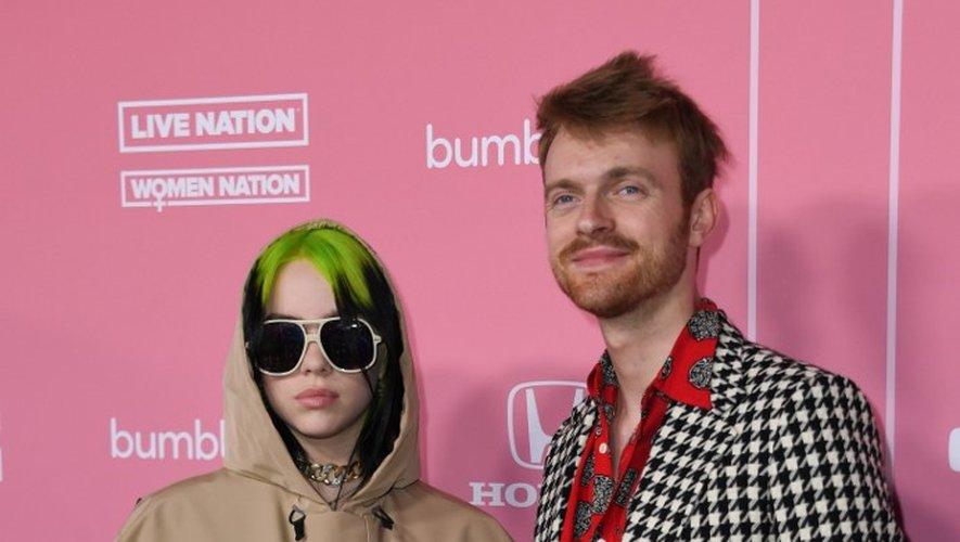L'Américaine Billie Eilish et son frère, Finneas O'Connell, à la soirée Billboard Woman of the Year, le 12 décembre 2019.