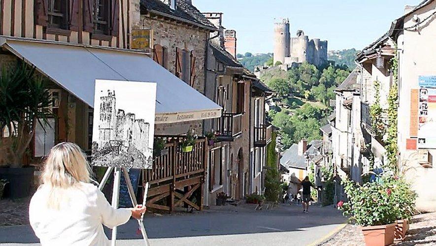 Une vue de Conques a gagné le concours, devant une image d'Estaing, des photos de Belcastel et Najac finissant 3e ex æquo d'un jeu qui a vu la participation de 200 personnes.