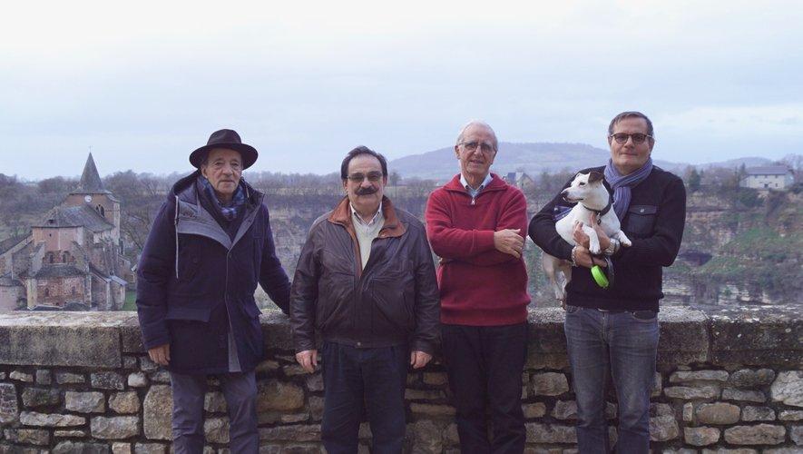 Les porte-paroles : Hamid Dali, Jean-Claude Lemouzy, Jean-Paul Cabanettes et Roberto De Paoli.
