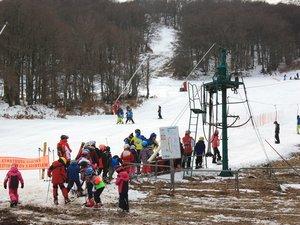 Les enfants des skis clubs sur les pistes !