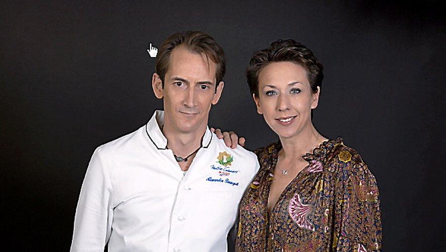 Alexandre Bousquet et Isabelle Caulier, heureux.
