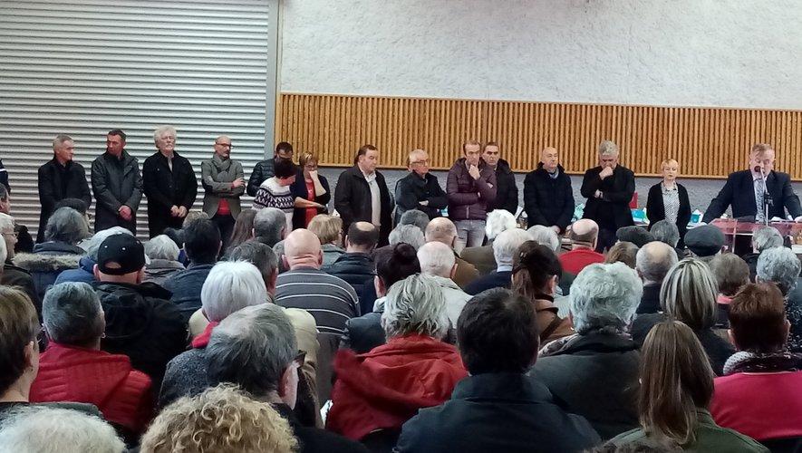 Une assemblée nombreuse  pour assister aux vœux du maire.