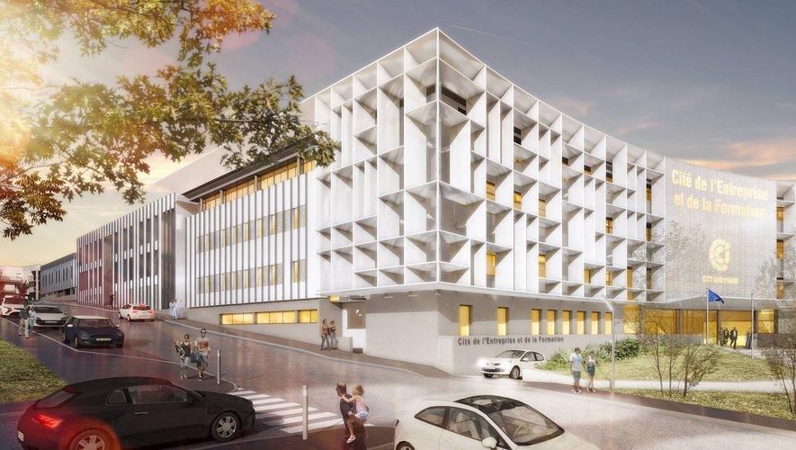 Le futur siège de la Chambre de commerce et d'industrie de l'Aveyron ouvrira ses portes en 2022 à Bourran.