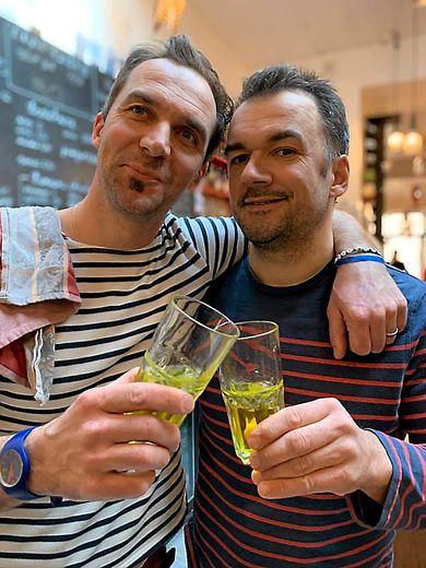 Gilles Pradalier et Mathieu Regourd, à l'heure de refermer les portes de « L'Ô12 ».