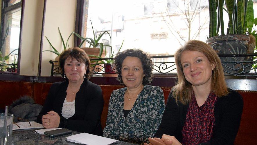 Sarah Vidal, Martine Bezombes et Monique Bultel-Herment,  de nouveau candidates aux côtés de Christian Teyssèdre.