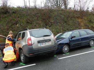 L'accident s'est produit ce vendredi après-midi.