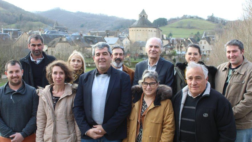 En haut (de gauche à droite) : François Clauzel (Sainte-Eulalie-d'Olt), Christiane Aliquot (Sainte-Eulalie-d'Olt), Richard Reinaudo (Sainte-Eulalie-d'Olt), Michel Marchet (Le Salt), Pauline Domergue (Lous), Mathieu Solignac (Le Bousquet)En bas (de gauche à droite) : Romain Courtial (Lous), Rachel Coutreras (Sainte-Eulalie-d'Olt), Christian Naudan (Malescombes), Cécile Da Silva (Sainte-Eulalie-d'Olt), Roland Miquel (Cabanac).