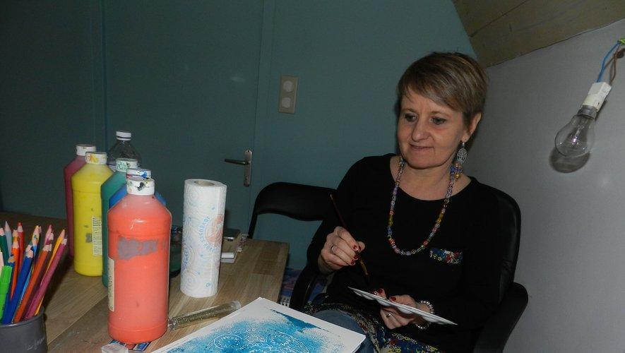 Virginie Cavalli dans son atelier.