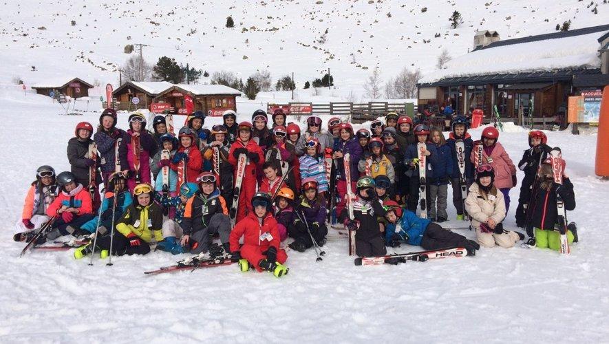 Les écoliers dans les Pyrénées
