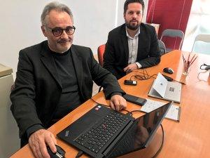 Jean-Marc Lacombe et son colistier, Mathieu Ginestet.