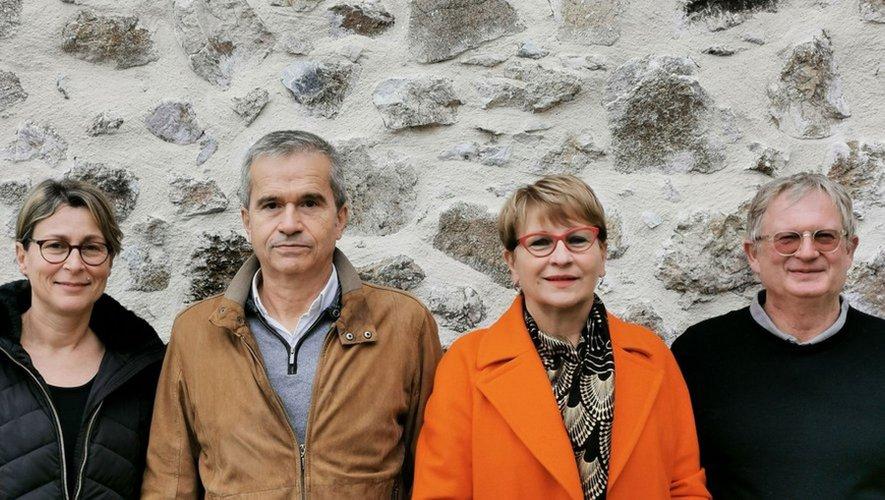 Christiane Trézières avec Sadrine Hillion-Lagarrigue, Dider Venu et Marc Bouby.