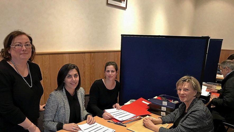 Hier en préfecture, Christine Presne (Bertholène) en entretien avec Catherine Regy et ses vacataires, pour le dépôt de sa liste.