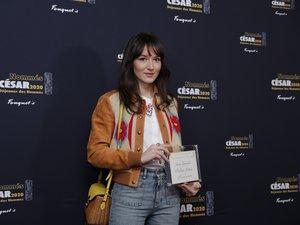 L'actrice française Anaïs Demoustier à son arrivée pour le déjeuner des nommés aux César, le 9 février 2020 à Paris.
