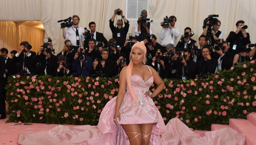 La rappeuse américaine Nicki Minaj arrive au Met Gala 2019 au Metropolitan Museum of Art le 6 mai 2019, à New York.