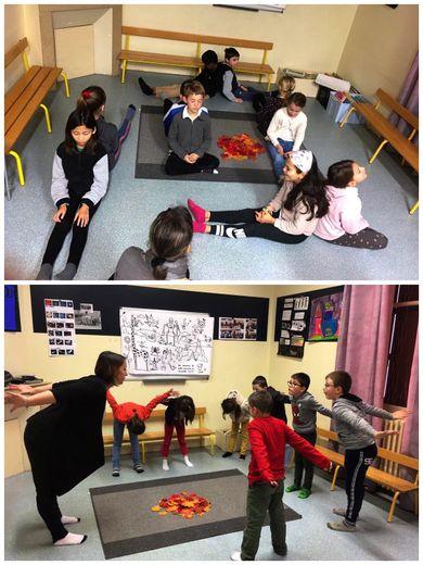 Les élèves apprécient les bienfaits du yoga