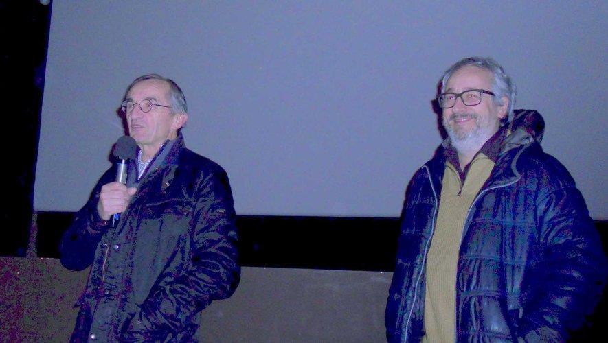 Michel Bras et Paul Lacoste venus présenter le film au festival Cinécure.