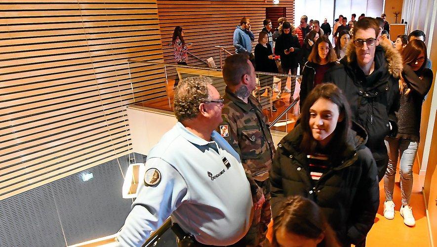 Les 95 jeunes ont passé leur journée à la salle des fêtes de Rodez, entre modules et sensibilisations diverses.
