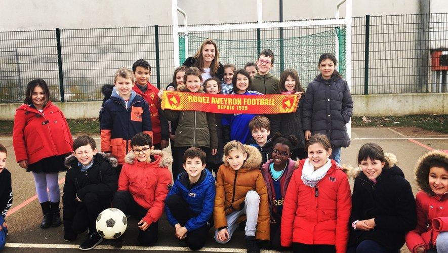 Manon Guitard a rencontré les écoliers.